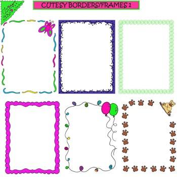 Clip Art Cutesy Borders/Frames 1
