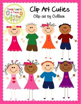 Clip Art Cuties Color