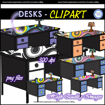 Clip Art - DESKS - Personal or Commerical Use