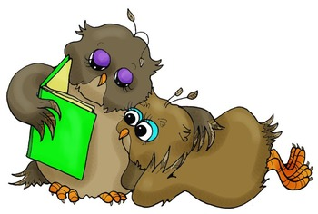 Clip Art: Daily Owls Reading and Writing