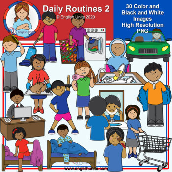 Clip Art - Daily Routines 2
