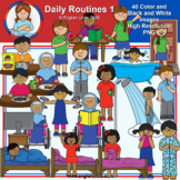 Clip Art - Daily Routines