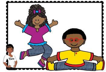 Clip Art~ Dancing / Exercising Kids