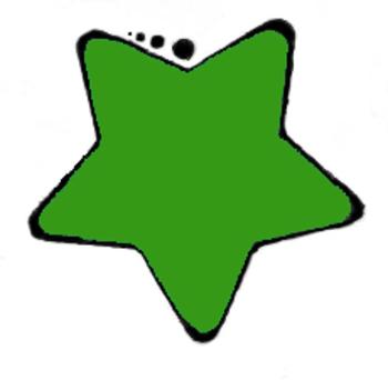 clip art dark green star by teaching to the 4th degree tpt rh teacherspayteachers com White Star Clip Art Blue Star Clip Art