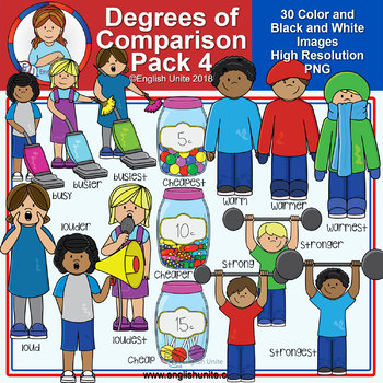 Clip Art - Degrees of Comparison Pack 4