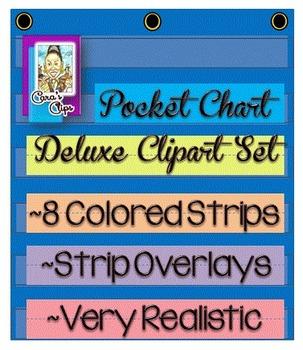 Clip Art~ Deluxe Pocket Chart Clipart Set