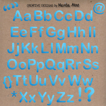 Clip Art: Denim Alphabet & Numbers Clip Art Set Letter Tiles