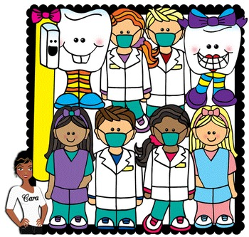 Clip Art~ Dental Health 2  (Teeth and Dentists)
