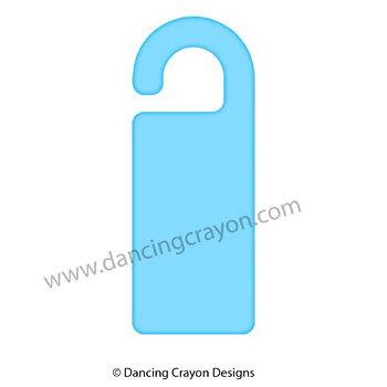 Clip Art: Design Your Own Door Knob Hanger / Sign Template