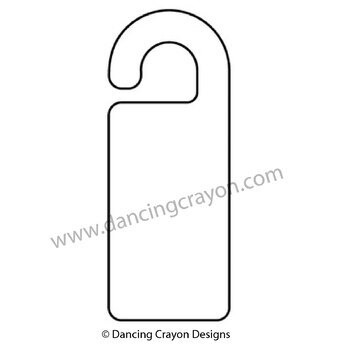 Clip Art Design Your Own Door Knob Hanger Sign Template Tpt