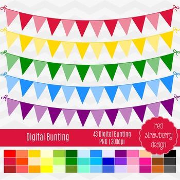 Clip Art - Digital Bunting - Back to Basics