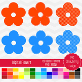 Clip Art - Digital Flowers - Back to Basics