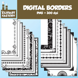 Clip Art: Digital Page Borders - 18 Fun decorative borders