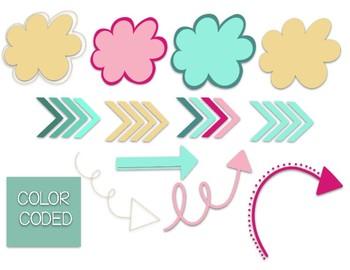 Clip Art & Digital Paper Beth Jumbo Set
