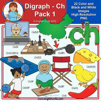 Clip Art - Digraph Ch Pack 1