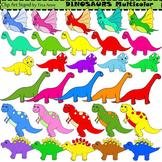 Clip Art Dinosaurs Multicolor