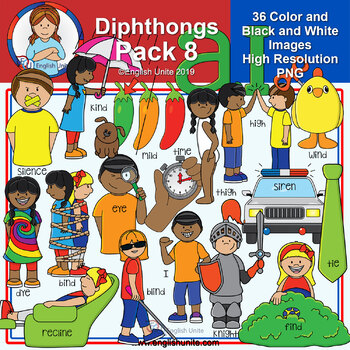 Clip Art - Diphthongs Pack 8
