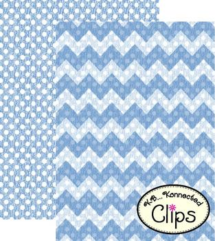 Clip Art - Distressed Dots and Chevrons Digi-Papers
