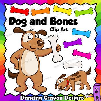 Clip Art Dog and Bone
