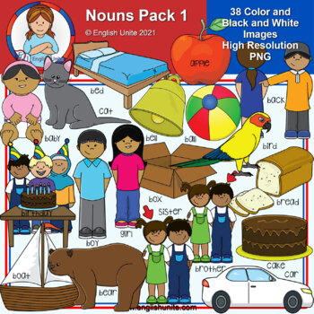 Clip Art - Dolch Nouns Pack 1