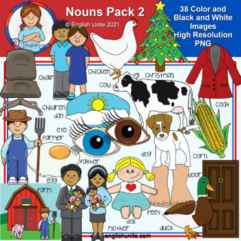 Clip Art - Dolch Nouns Pack 2