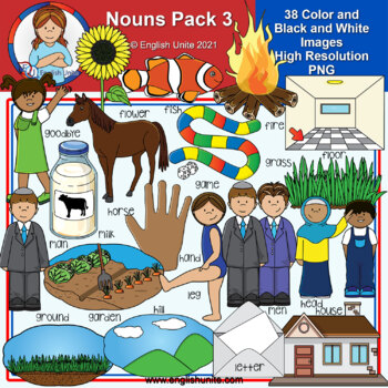 Clip Art - Dolch Nouns Pack 3