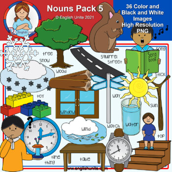 Clip Art - Dolch Nouns Pack 5