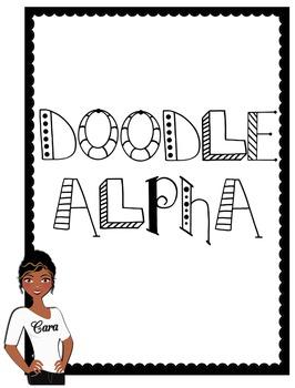 Clip Art~ Doodle Alphabet