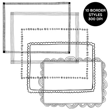 Clip Art: Doodle Borders 1: Hand-Drawn Borders for Personal and Commercial Use