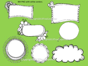 Clip Art: Doodle Borders and Fun Add-Ons