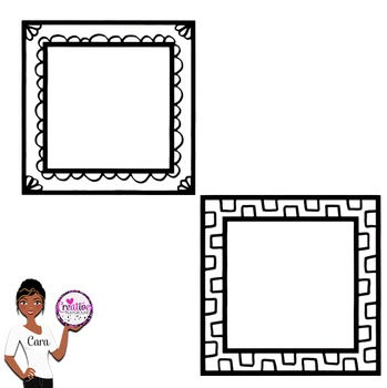 Clip Art~ Doodle Frames