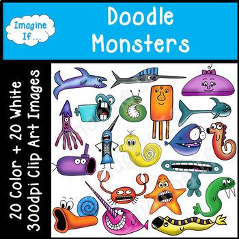 Clip Art-Doodle Monsters