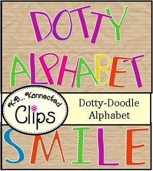 Clip Art ~ Dotty-Doodle Alphabet  (uppercase)