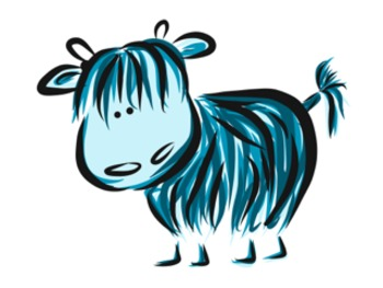 Clip Art Dotty and friends - Highland Cows Selection