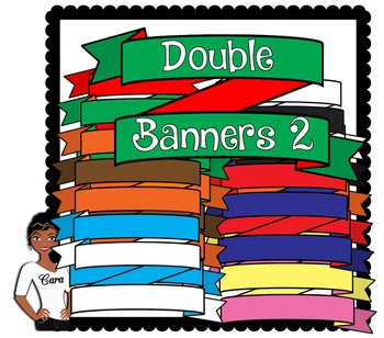 Clip Art~ Double Banners2 / Headers