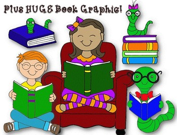 Clip Art~ Drop Everything and Read Mini-Graphic Set