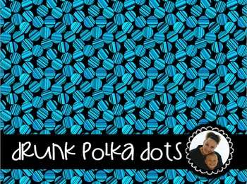 Clip Art~ Drunk Polka Dots Digital Paper Collection