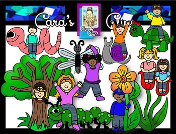 Clip Art~ Earth Day Kids 2