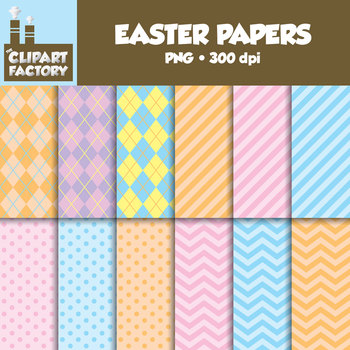 clip art easter backgrounds 12 easter themed digital papers tpt