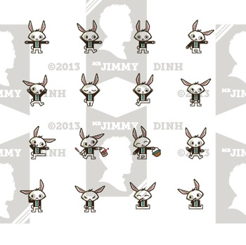 Clip Art: Easter Bunny Business 64