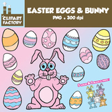 Clip Art: Easter Bunny and Easter Eggs - Fun colorful Easter clip art