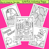 Clip Art Easter Coloring Pages