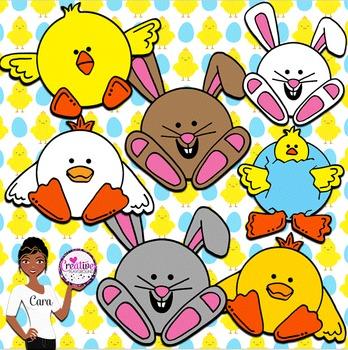 Clip Art~ Easter Cuties Design Kit