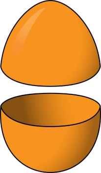 Clip Art: Easter Egg Halves Basic Colors