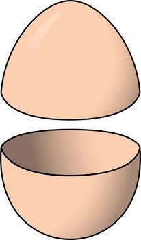 Clip Art: Easter Egg Halves Pastels