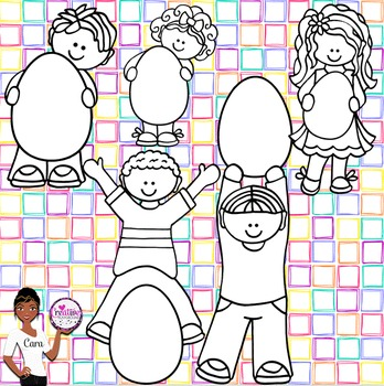 Clip Art~ Easter Egg Kids