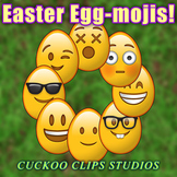 Clip Art: Easter Egg-mojis! Easter Eggs with Emoticon faces