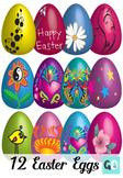Easter Eggs Clipart, 3D Clip Art Eggs