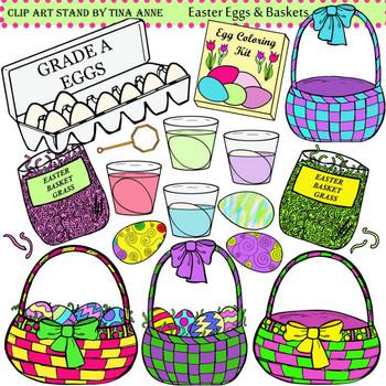 Clip Art Easter Eggs & Baskets