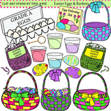 Clip Art Easter Eggs & Baskets